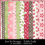 Little Lady Worn Paper Pack-$1.99 (Just So Scrappy)
