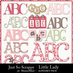 Little Lady Alphabet Pack-$3.49 (Just So Scrappy)