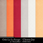 Choose Joy Embossed Papers-$1.99 (Ooh La La Scraps)
