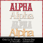 Choose Joy Extra Alphabets-$3.49 (Ooh La La Scraps)