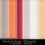 Choose Joy Pattern Papers-$1.99 (Ooh La La Scraps)