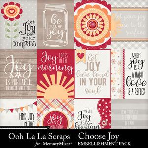 Choose joy pocket scrap cards medium