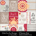 Choose Joy Pocket Cards-$1.99 (Ooh La La Scraps)