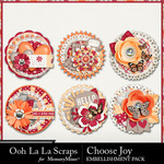 Choose Joy Cluster Seals-$1.99 (Ooh La La Scraps)