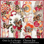 Choose Joy Page Borders-$1.99 (Ooh La La Scraps)