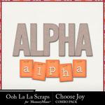 Choose joy kit alphabets small