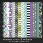 Love Bandit Pattern Paper Pack-$3.99 (Jumpstart Designs)