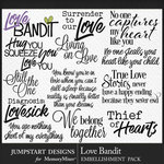 Love Bandit WordArt Pack-$3.99 (Jumpstart Designs)