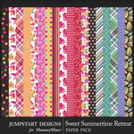 Sweet Summertime Retreat Patterned Papers-$3.99 (Jumpstart Designs)