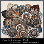 Dad Layered Flowers Pack-$1.99 (Ooh La La Scraps)