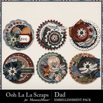 Dad Cluster Seals Pack-$1.99 (Ooh La La Scraps)