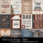 Dad Pocket Scrap Cards Pack-$1.99 (Ooh La La Scraps)