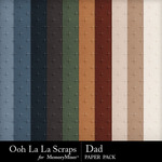Dad Embossed Paper Pack-$1.99 (Ooh La La Scraps)