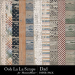 Dad Worn Wood Paper Pack-$1.99 (Ooh La La Scraps)