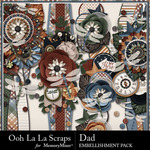 Dad Page Borders Pack-$1.99 (Ooh La La Scraps)