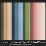 Sweet Childhood Dreams Basic Papers-$3.99 (Jumpstart Designs)