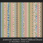 Sweet Childhood Dreams Patterned Papers-$3.99 (Jumpstart Designs)