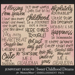 Sweet Childhood Dreams WordArt Pack-$3.99 (Jumpstart Designs)
