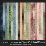 Sweet Childhood Dreams Soft Blends Papers-$3.99 (Jumpstart Designs)