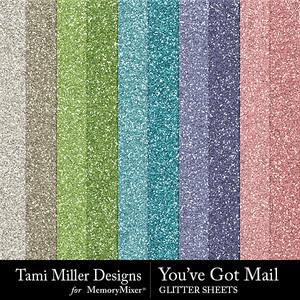You've got mail glitter sheets medium