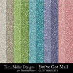 You've Got Mail Glitter Sheets Pack-$2.99 (Tami Miller)