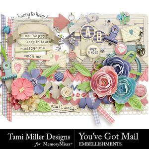 You've got mail embellishments medium