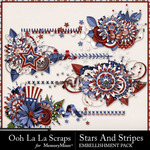 Stars and Stripes OLL Cluster Stitches Pack-$1.99 (Ooh La La Scraps)