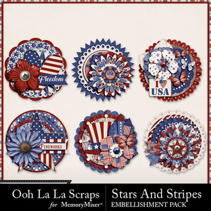 Stars and stripes cluster seals medium