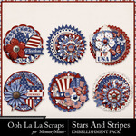 Stars and Stripes OLL Cluster Seals Pack-$1.99 (Ooh La La Scraps)