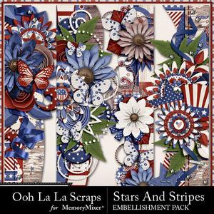 Stars and stripes page borders medium