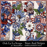 Stars and Stripes OLL Page Border Pack-$1.40 (Ooh La La Scraps)