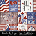 Stars and Stripes OLL Pocket Scrap Cards-$1.99 (Ooh La La Scraps)