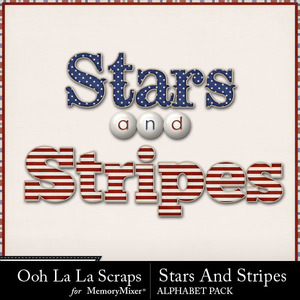 Stars and stripes alphabets medium