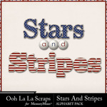 Stars and Stripes OLL Alphabet Pack-$2.45 (Ooh La La Scraps)