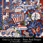 Stars and Stripes OLL Combo Pack-$3.49 (Ooh La La Scraps)