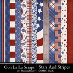 Stars and stripes kit papers small