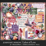 Labor of Love Add On Embellishments-$4.99 (Jumpstart Designs)