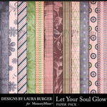 Let Your Soul Glow Pattern Papers-$3.99 (Laura Burger)