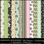 My Passion Gardening Pattern Papers-$3.99 (Laura Burger)