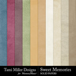 Sweet Memories Solid Paper Pack-$2.99 (Tami Miller)