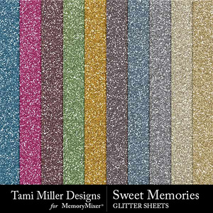 Sweet memories glitter sheets medium