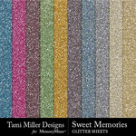 Sweet memories glitter sheets small