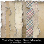 Sweet Memories Tattered Paper Pack-$3.99 (Tami Miller)