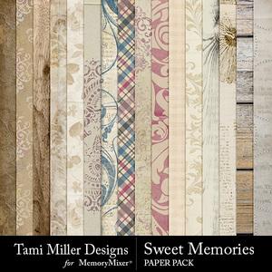 Sweet memories paper pack medium