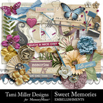 Sweet memories embellishments small