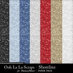 Shoreline Glitter Paper Pack-$1.99 (Ooh La La Scraps)