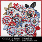 Shoreline Layered Flower Pack-$1.99 (Ooh La La Scraps)