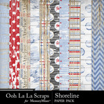 Shoreline Wood Paper Pack-$1.99 (Ooh La La Scraps)