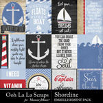 Shoreline Pocket Cards Pack-$1.99 (Ooh La La Scraps)
