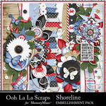 Shoreline Page Border Pack-$1.99 (Ooh La La Scraps)